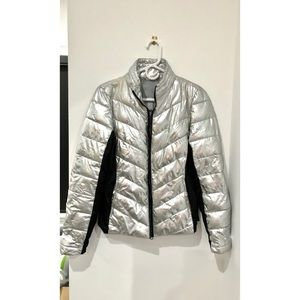 Silver Puffer Jacket Size S